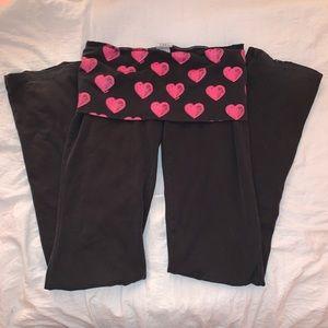 PINK Victoria's Secret Pink Heart Yoga Pants